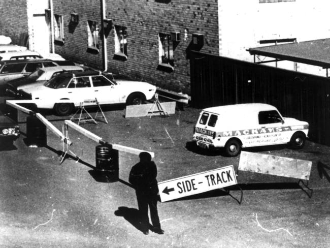 The white mini-van from which Donald Mackay disappeared at Griffith in July 1977.