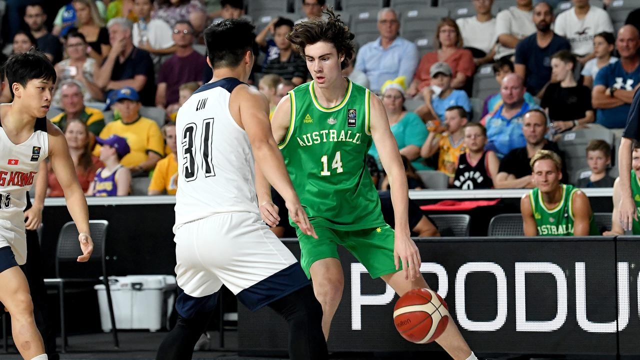 Giddey played for the Boomers in February.