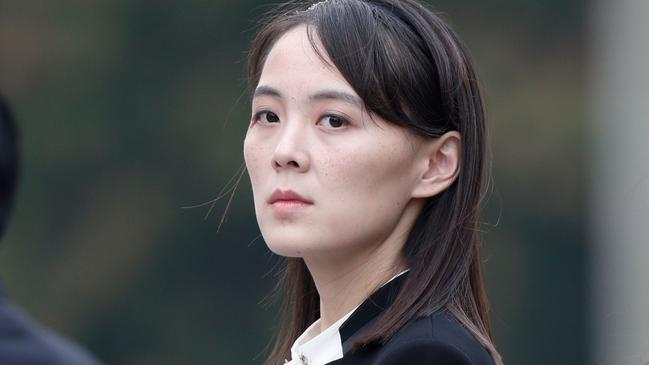 Kim Yo Jong, sister of North Korea's leader Kim Jong-un has been described as ruthless and haughty. Picture: Jorge Silva/AFP