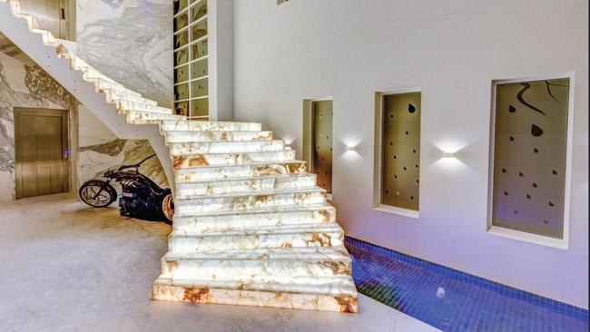 Marble stairwell featured in a music clip for US rap artist Bow Wow in 2015. Picture: Surething Realty