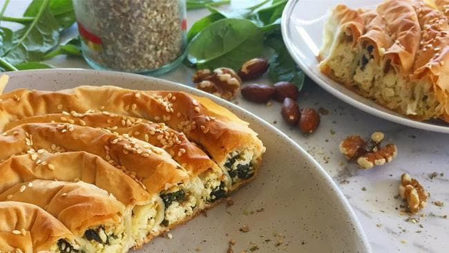 Vegan Spanakopita looks absolutely delicious on the Christmas dinner table. Picture: The Cruelty Free Shop