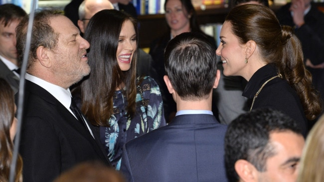 Weinstein and Chapman speak to the Duchess of Cambridge at an event in New York in 2014. Photo: Mike Coppola/Getty Images POOL/Getty Images