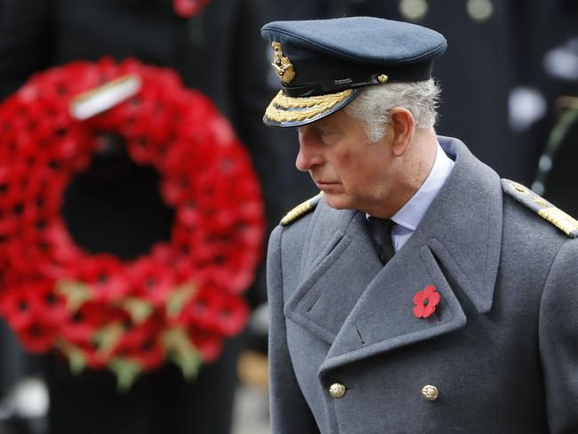 For the first time in 60 years, the Queen asked Prince Charles to lay a wreath on her behalf. Picture: AFP/Tolga Akmen