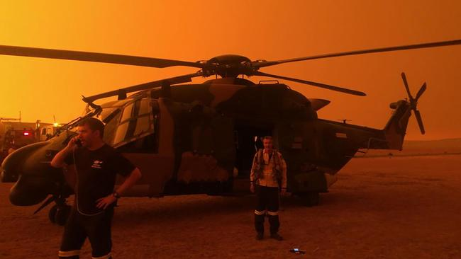 The ADF is mobilising 3000 reservists to assist with recovery efforts. Picture: AFP