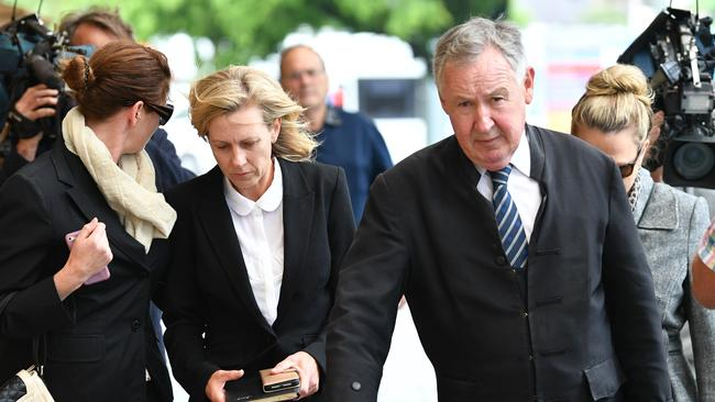 Former teacher Sonia Ruth Mackay (second left) has apologised for her actions. Picture: AAP Image/David Mariuz