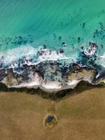 Eastern coast of Tasmania near Bicheno. Picture: Tony Hewitt and Denis Glennon
