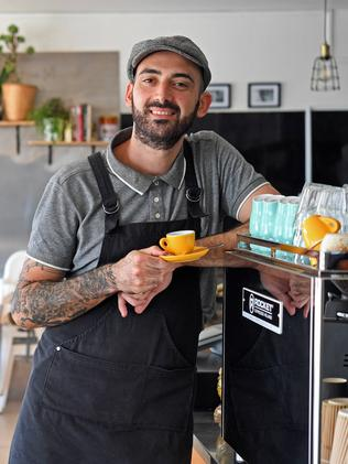 Matteo Giordano, the owner of the Pane e Latte cafe at Broadview. Picture: Tom Huntley