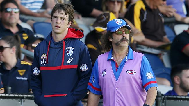 Liam Picken was stretchered from the field. Picture: Michael Klein.