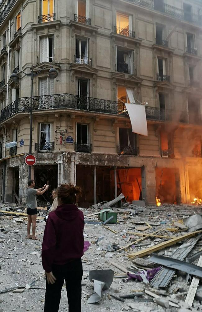 The scene of the gas leak explosion. Picture: AFP