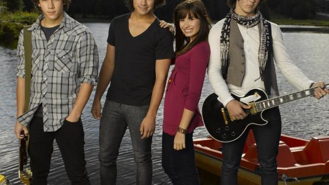 Camp Rock stars The Jonas Brothers with Demi Lovato. Picture: Disney Channel.Source:Supplied