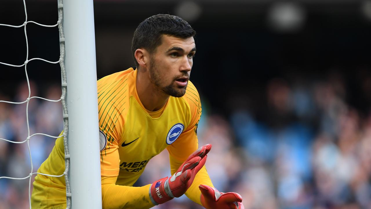 Socceroos shot stopper Mat Ryan has been in sensational form for Brighton