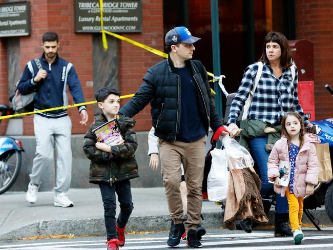 Parents pick up their children from school after a terror incident in New York City. Picture: Reuters