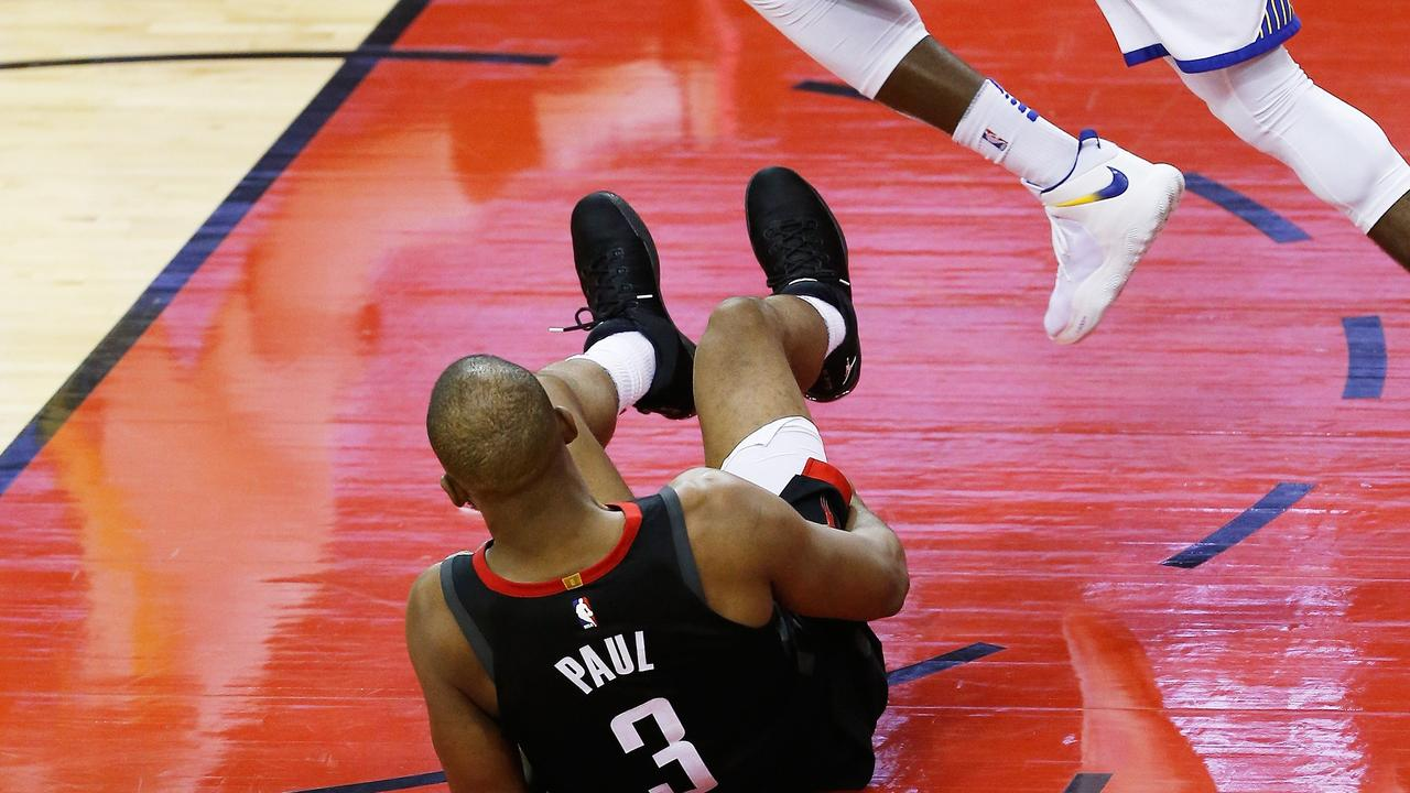 Chris Paul was injured late in the fourth.