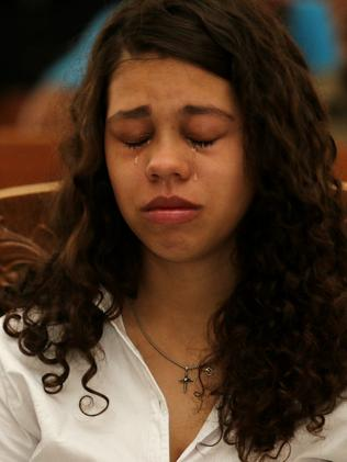 Heather Mack and her boyfriend Tommy Schaefer murdered her mother and hid her body in a suitcase during their holiday in Bali. Picture: Lukman S. Bintoro