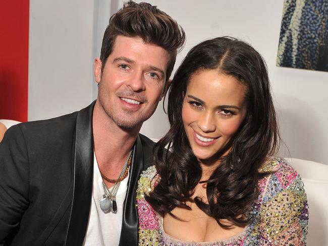 That was then ... Singer Robin Thicke and actress Paula Patton at a movie premiere in December 2011 in New York City. Picture: Stephen Lovekin