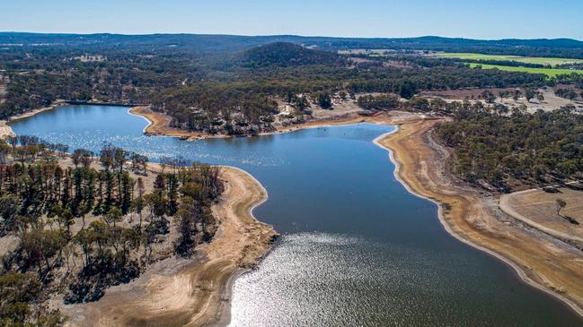 Garry Wilkinson took these photos in early June of Storm King Dam, Stanthorpe's only water supply.