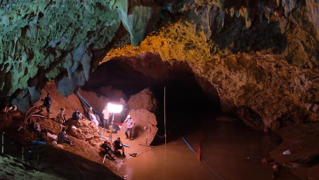 A view inside the entrance to Tham Luang Nang Non cave in northern Thailand. Picture: Linh Pham/Getty Images.