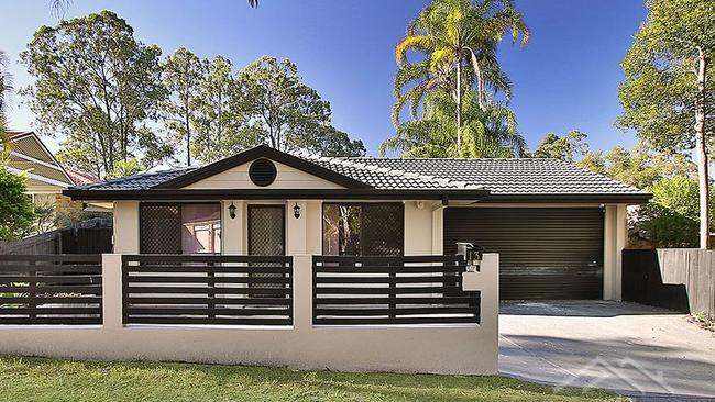 This three-bedroom house at 13 Bimbah St, Forest Lake, is on the market for $399,000+.