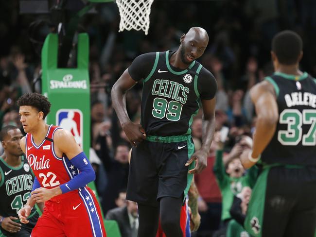 Boston Celtics' Tacko Fall makes everyone look small.