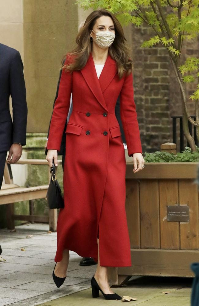 Catherine, Duchess of Cambridge arrives at St. Bartholomew's Hospital to attend an event to mark the launch of the nationwide 'Hold Still' community photography project on October 20, 2020 in London, England. Picture: Matt Dunham/Getty Images