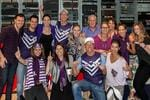 Shaun McManus encouraged his colleagues at Nova 937 to wear purple in support of the Dockers' finals campaign. Picture: Supplied.