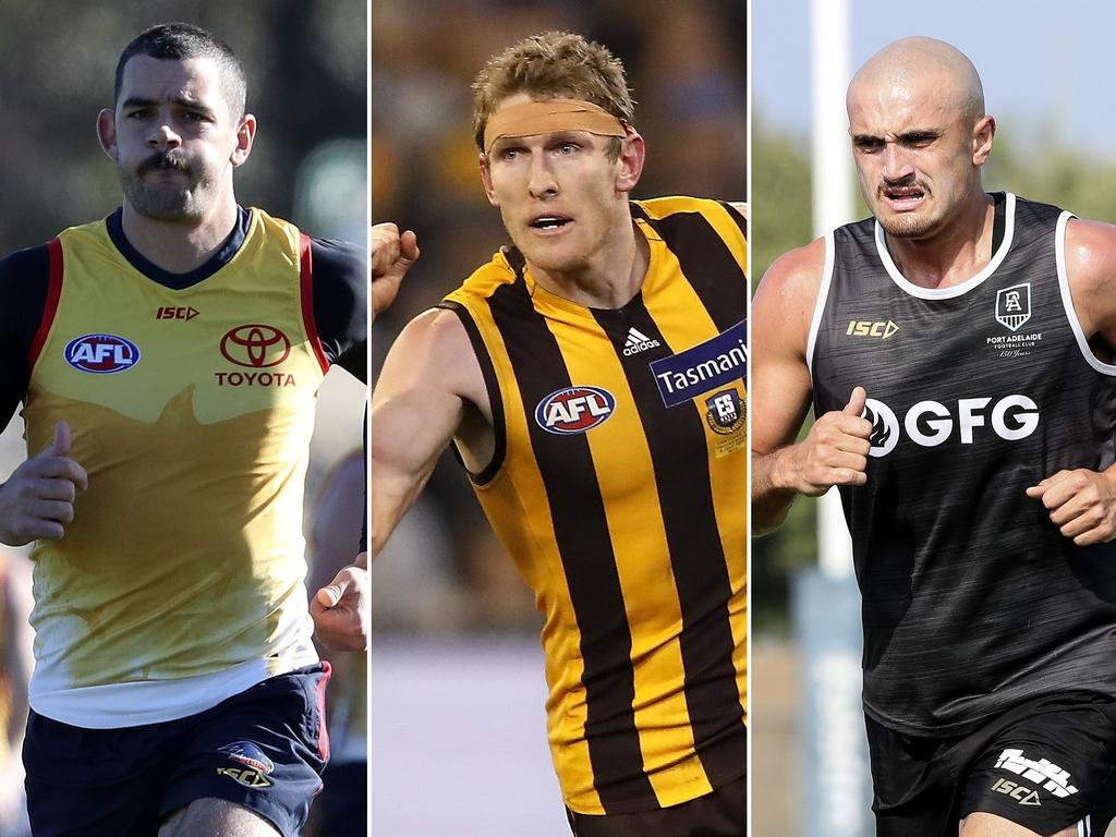 Crow Taylor Walker, Hawk Ben McEvoy and Power's Sam Powell-Pepper could have new on-field roles in 2020.