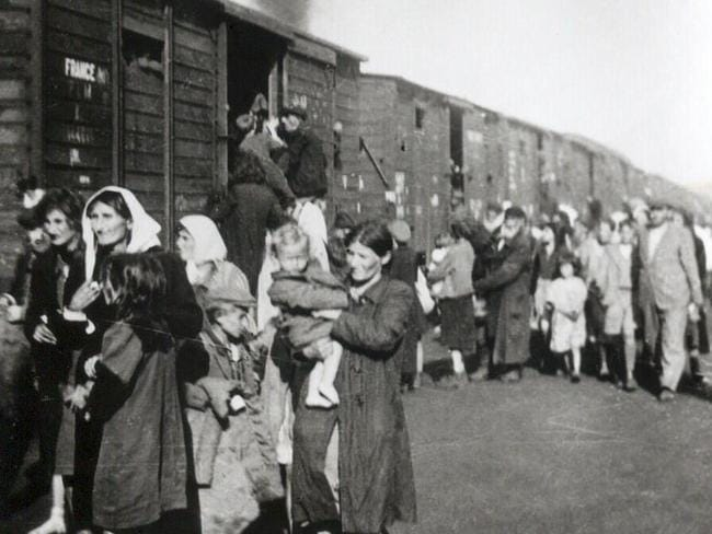 Polish Jews are deported to Treblinka after the liquidation of the ghetto in Siedlce in 1942.