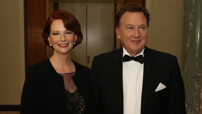 """Former Prime Minister Julia Gillard was dubbed """"deliberately barren"""" by a fellow politician and even copped questions about whether her partner Tim Mathieson was gay while live on radio. Picture: Gary Ramage"""
