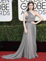Anna Kendrick attends the 74th Annual Golden Globe Awards at The Beverly Hilton Hotel on January 8, 2017 in Beverly Hills, California. Picture: Getty