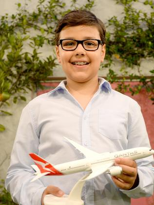 As the self-appointed CEO of Oceania Express, 10-year-old Alex Jacquot. Picture: Jeremy Piper