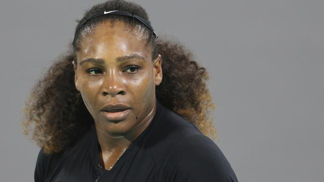 Serena Williams playing in Abu Dhabi last week.