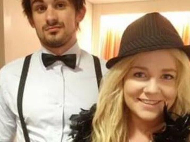 The 22-year-old with her fiance Scott Broadbridge. Picture: Facebook