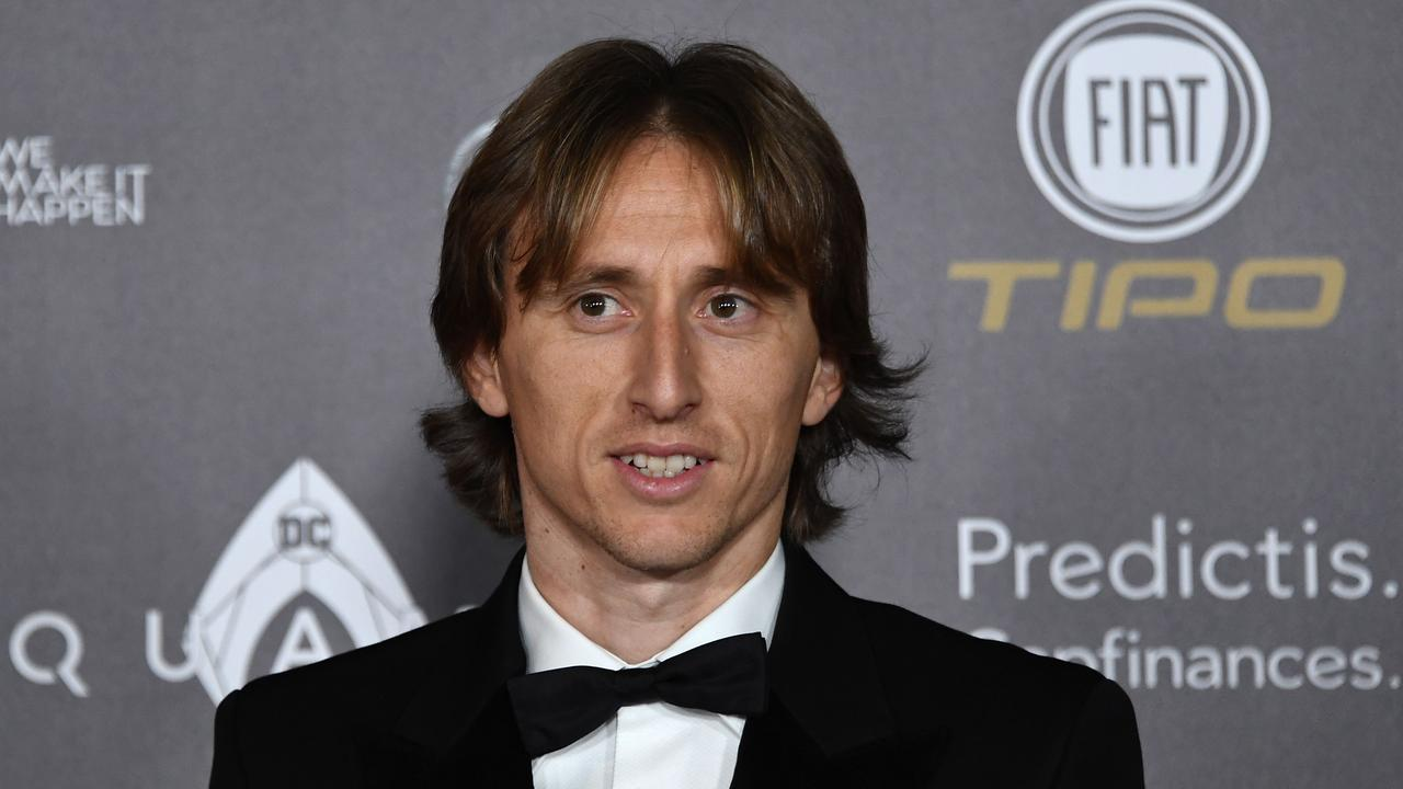 Real Madrid's Croatian midfielder Luka Modric. (Photo by Anne-Christine POUJOULAT / AFP)