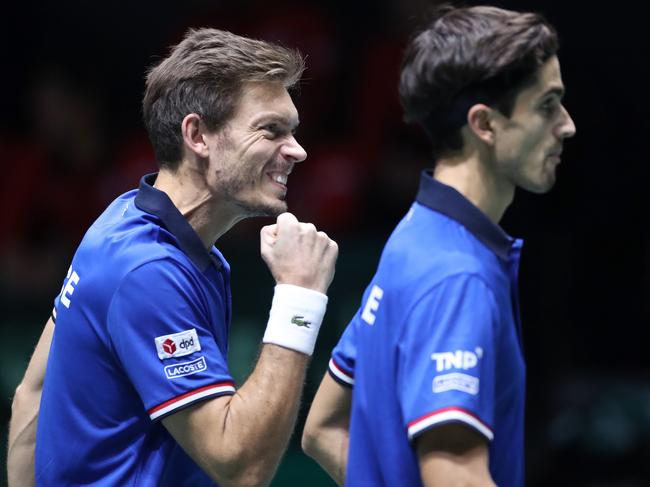 France's doubles pairing came to the rescue.