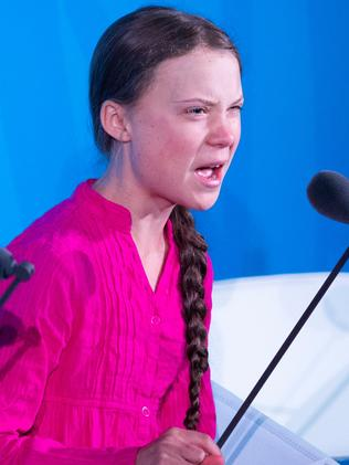 Greta Thunberg speaks during the UN Climate Action Summit. Picture: AFP