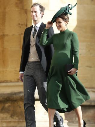 Pippa and her husband attending Princess Eugenie's wedding. (Adrian Dennis/Pool via AP)