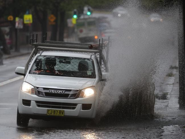 Heavy rain and strong winds have smashed Australia's east coast over the last couple of days. Picture: John Grainger