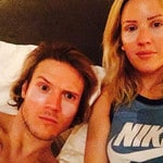 "Ellie Goulding and boyfriend Dougie Poynter ... ""Girlz night in (he's going to kill me) Nah but Rodial Dragon's Blood eye masks are seriously good"" Picture: Instagram"