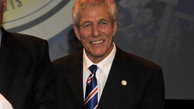 John Schultz will present the premiership cup if the Western Bulldogs win on Saturday.