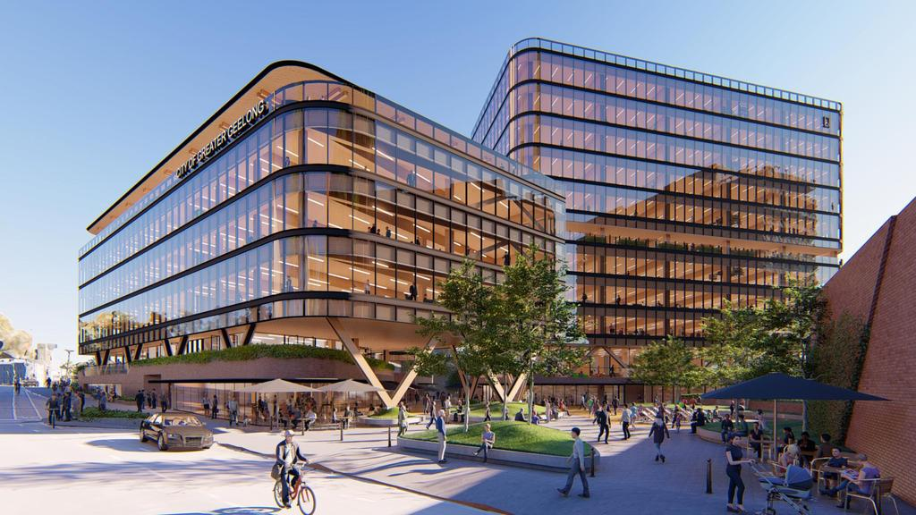Artist impressions of new Geelong council headquarters. Picture: COX Architects.
