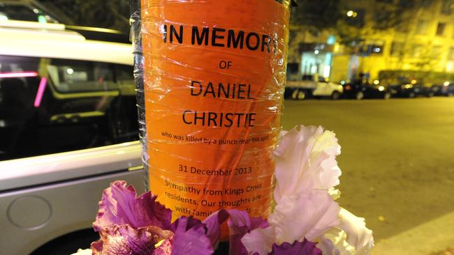 Daniel Christie died after being attacked in Kings Cross on New years Eve 2013.
