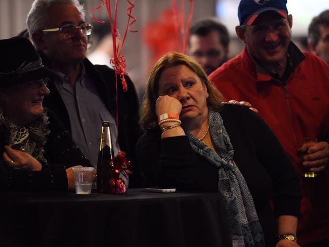Federal Labor supporters await a result on Saturday night. Picture: AAP Image/Tracey Nearmy