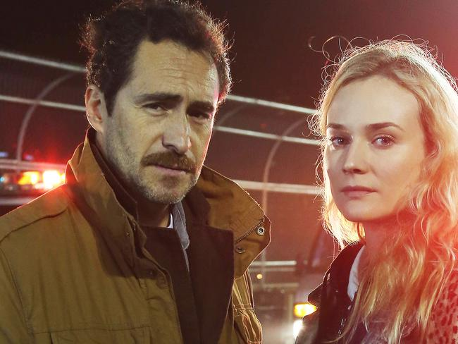 Demian Bichir and Diane Kruger in The Bridge. Picture: Fx