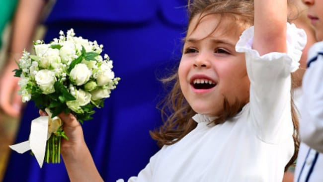 Theodora's alright to wear white because she's a bridesmaid. Photo: Getty