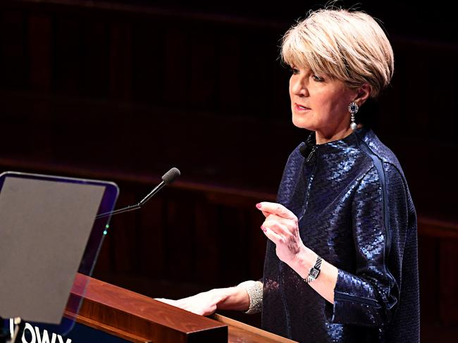 Former foreign affairs minister Julie Bishop has called out the bad behaviour that takes place during Question Time. Picture: AAP Image/Danny Casey