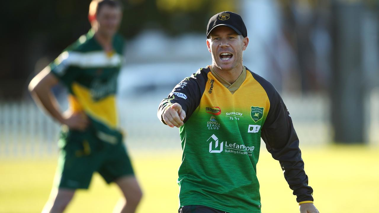 David Warner will represent Randwick-Petersham at Coogee.