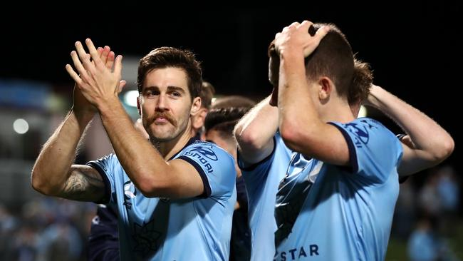 Sydney FC went on to w with the semi-final 5-0. Picture: Cameron Spencer/Getty Images