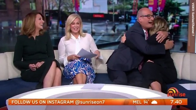 Sunrise star Edwina Bartholomew reveals baby news live on-air (Sunrise)