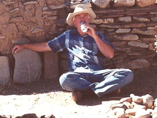 Forrest Fenn drinking a Dr Pepper at his San Lozaro Pueblo in New Mexico. Credit: Forrest Fenn