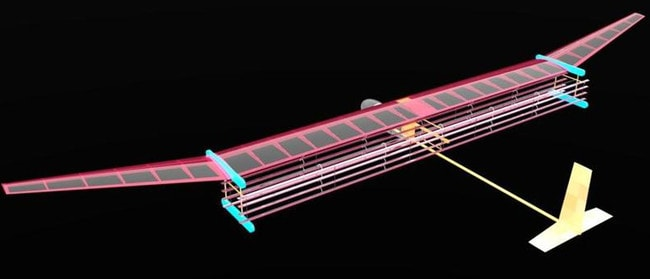 A general blueprint for an MIT plane propelled by ionic wind. The system may be used to propel small drones and even lightweight aircraft, as an alternative to fossil fuel propulsion. Picture: MIT Electric Aircraft Initiative